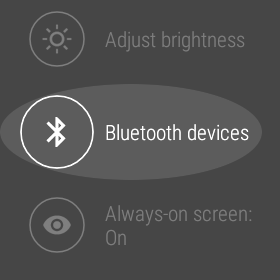 Bluetooth devices on Android Wear.