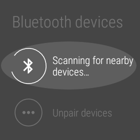 Settings on Android Wear.
